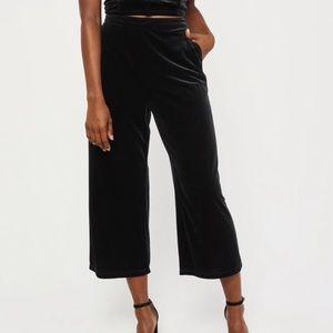 Abercrombie Wide Leg Velvet Pants